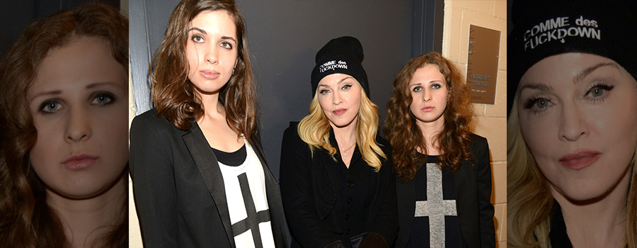 Участницы коллектива «Pussy Riot» c Мадонной