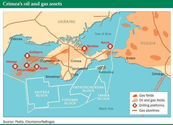 Месторождение Skifska — не единственное месторождение у крымского побережья, в котором были заинтересованы американские нефтегазовые корпорации