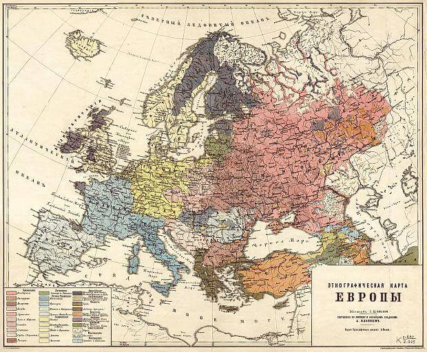 Ethnographic map of Europe