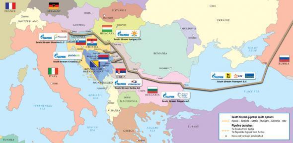 """Проект газопровода """"Южный поток"""" по дну Чёрного моря в обход территории Украины"""