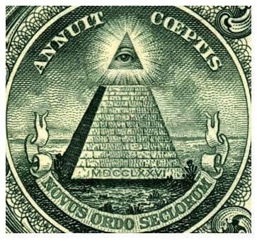 Николай Рерих однозначно указал разрыв времени в Божественной пирамиде духа и отделении тем самым мира земли – мира дьявола, состоящего из краеугольных магических камней судьбы, находящихся в руках египетских жрецов, от Божественной иерархии небесных сил, изображенной в виде треугольника Святой троицы и всевидящего ока Бога Отца.
