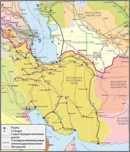 Строящиеся и планируемые железнодорожные линии Ирана