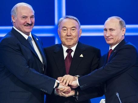 Александр Лукашенко, Нурсултан Назарбаев и Владимир Путин