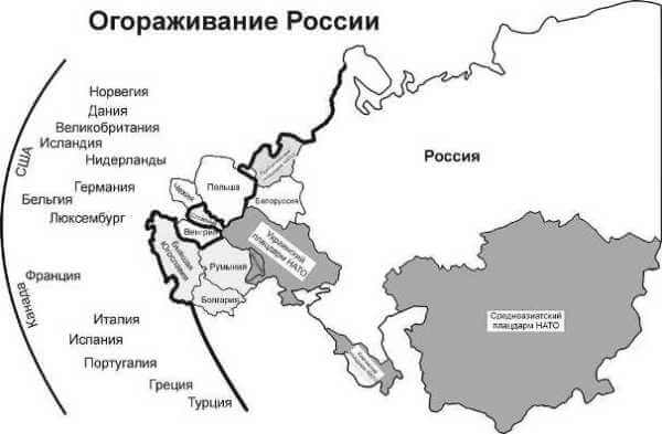 Изоляция России от стран Евразийского континента