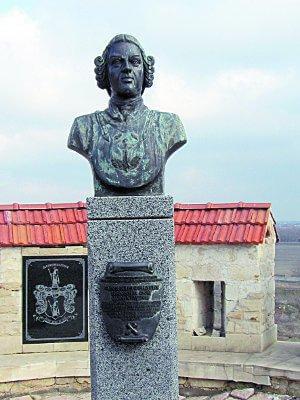 Бюст Барона Мюнхгаузена. Бендерская крепость