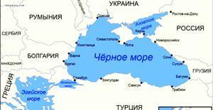 Фарватеры и рифы военной безопасности в Черном море