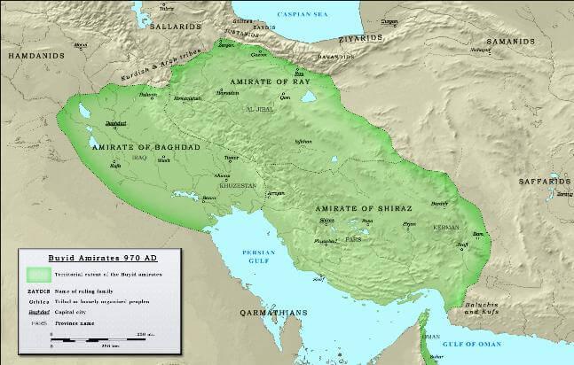 Политическая карта движения шиитов - 10 век - Фатимиды и Буиды