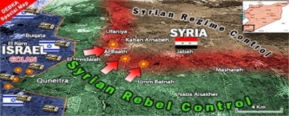 КАРТА УДАРОВ ИЗРАИЛЯ ПО СИРИИ