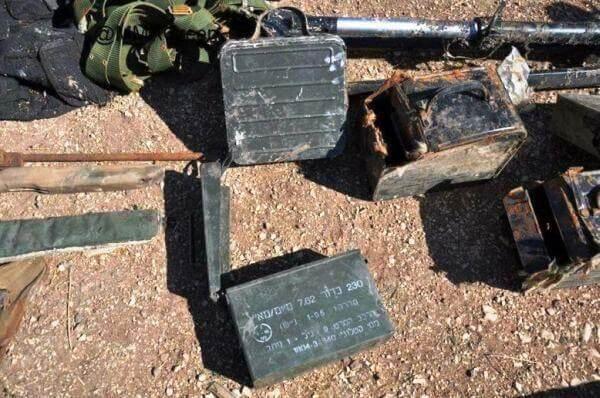 Израильские боеприпасы, обнаруженные у оппозиции в районе г. Хомса