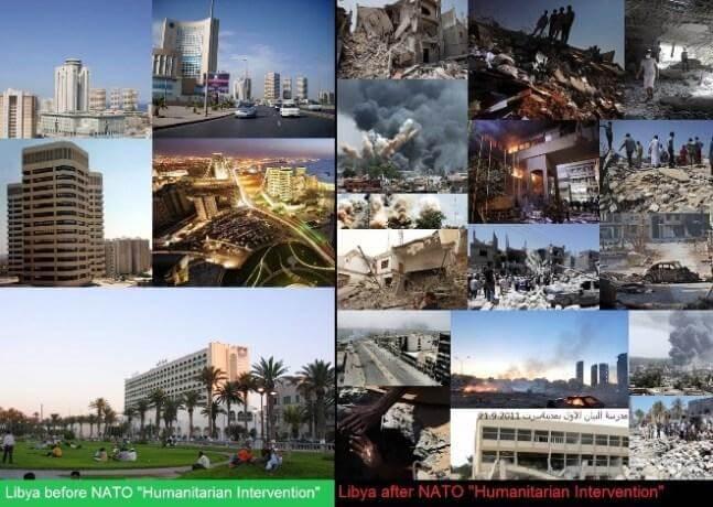 Ливия до и после гуманитарного вторжения НАТО