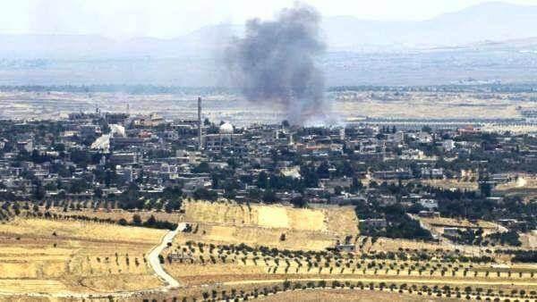 Разрывы от израильских авиабомб в Сирии