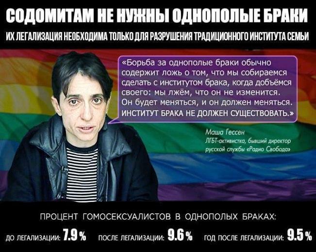 """Видная активистка """"ЛГБТ-движения"""" Мария Гессен, бывший директор русской службы «Радио Свобода»"""