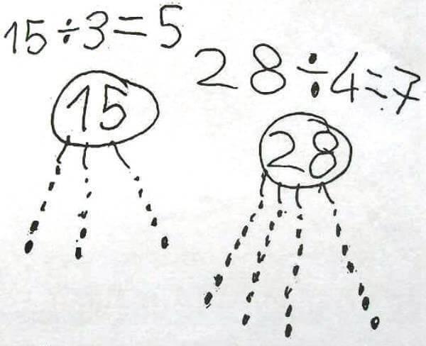 Методика деления числел в английской школе